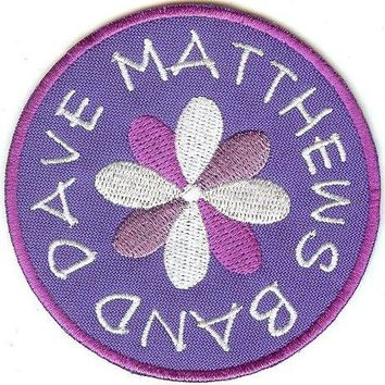 Dave Matthews Band Iron-On Patch Round Flower Logo