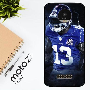 Odell Beckham Jr New York Giants X5642 Motorola Moto Z2 Play Case