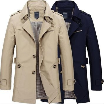 Trendy Men Jacket Autumn Winter Long Section Fashion Casual Solid Trench Coat Jaqueta Masculina Veste Homme Military Jacket Outwear 5XL AT_94_13