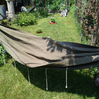 Vintage military hammock waxed canvas camp hammock canvas army hammock soviet green  portable hammock camping gear 70s