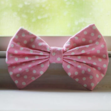 Mini Mouse (Pink and White Polka Dot) Bow