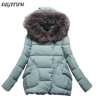 Womens Winter Jackets And Coats Winter Jacket Women Long Fur Hooded Winter Coat Women Cotton Padded Jacket Parka Cloak HB0242