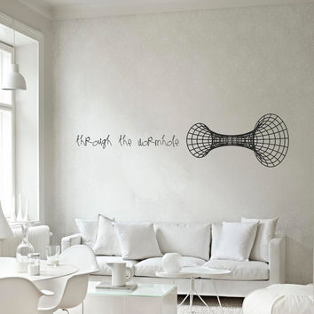 Science art Through the wormhole vinyl wall decal for your lab classroom school university scientific decor