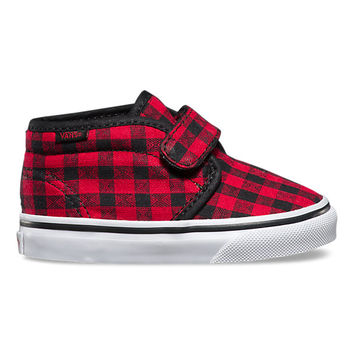 Toddlers Twill & Gingham Chukka V | Shop Toddler Shoes at Vans