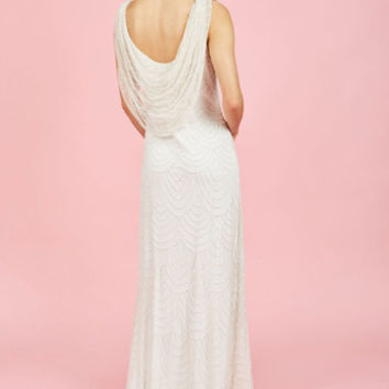 Graceful Grandeur Maxi Dress in Ivory | Mod Retro Vintage Dresses | ModCloth.com