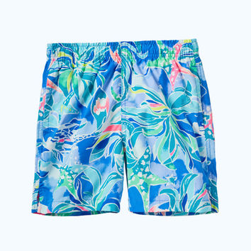 Boys Junior Capri Swim Trunk | 73263-bennetbluecelestialseas | Lilly Pulitzer