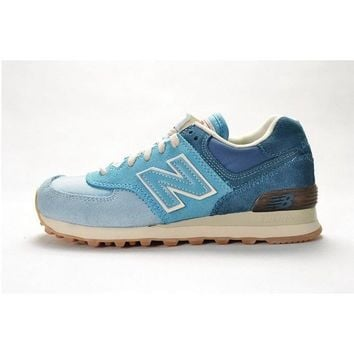 authentic new balance 574 nb574 blue color men women sport running shoe 36-44