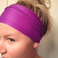 As Seen On Brickyard Buffalo Yoga Hipster Scarf Head Wrap Neon Purple Bright Violet Stretch Non-Marking DOLLAR SHIPPING in US