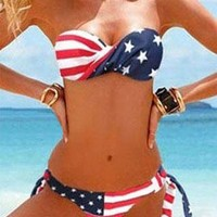 New style Sexy American Flag Stripes Bikini from styleonline