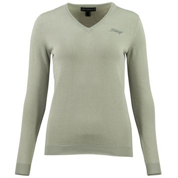 BVertigo Nina Elbow Patch V-Neck Sweater