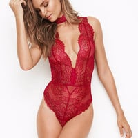 Chantilly Lace Choker Teddy - Dream Angels - Victoria's Secret