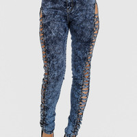 Fashion Jeans-Cute High Rise Jeans-Stone wash skinny jeans