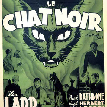 The Black Cat (French) 11x17 Movie Poster (1934)