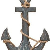 "18"" Wood Anchor with Crossbar Boat Decor"