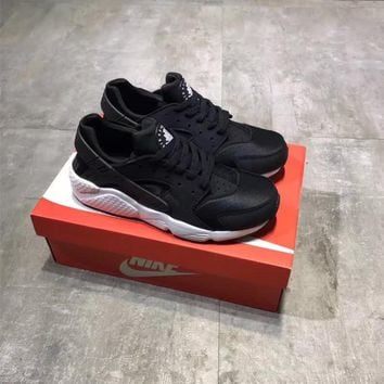 """Nike Air Huarache Run 1"" Classic Unisex Sport Casual Fashion Thick Bottom Running Shoes Couple Sneakers"