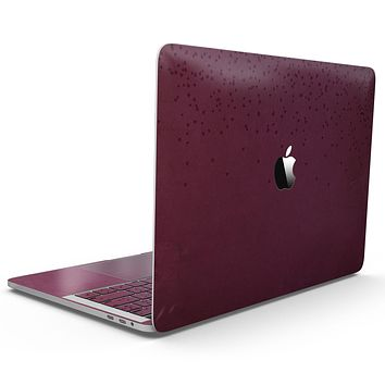 50 Shades of Burgandy Micro Hearts - MacBook Pro with Touch Bar Skin Kit