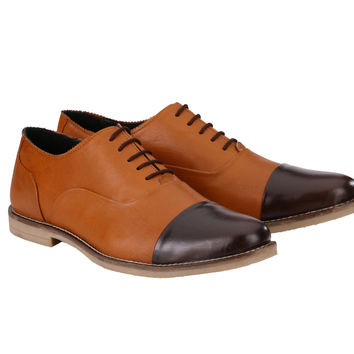 Men's Formal Oxford Two Tone Lace Up | Jacksin Shoes