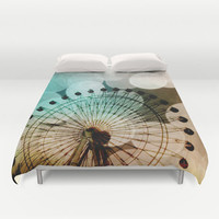 Art Duvet Cover At the Fair fine art photography Ferris Wheel home decor