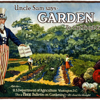 WWI Poster Uncle Sam Says Garden To Cut Food Costs Ask The U.S. Department Of Ag