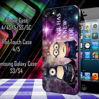 Despicable Me Minion Batman and Superman Galaxy Nebula Samsung Galaxy S3/ S4 case, iPhone 4/4S / 5/ 5s/ 5c case, iPod Touch 4 / 5 case