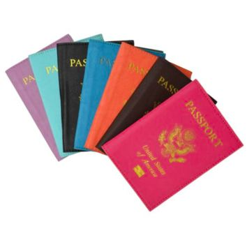 Leather Passport Cover (7 Color Options)