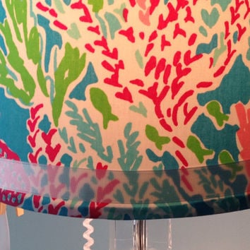 Lilly Pulitzer Let's Cha Cha Lamp Shade ONLY