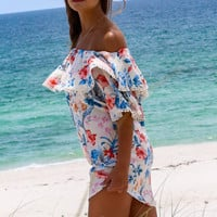 Dance In The Rain Floral Print Dress