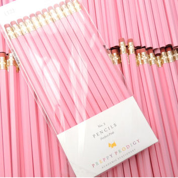 Perfect Pink Pencils, set of 12, Preppy School Supplies