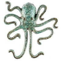 Crackle Seafoam Metal Octopus Wall Decor | Hobby Lobby