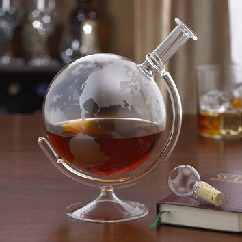 Etched Globe Spirits Decanter at Brookstone—Buy Now!