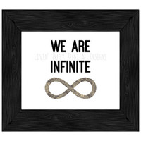 We Are Infinite, Infinty Sign Art, Digital Wall Art