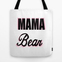 Mama Bear to Baby Girl Tote Bag by Love Lunch Liftoff