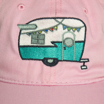 Trailer Glamping Flashlight Hat~ Shasta Camper Trailer Decor Cap~ Glamper gift for her~ Best Girlfriend Gift~ Birthday Gifts for her