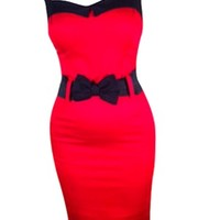 Bow Darling Doll Dress Red