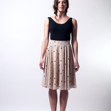 skater skirt, hearts pattern