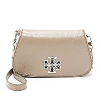 Tory Burch Women's Britten Mini Cross Body Bag, French Gray, One Size