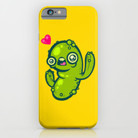 Pickled Cactus iPhone & iPod Case by Artistic Dyslexia