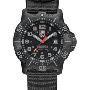 Luminox Mens Sea Steel 4200 Series - Black Case & Nylon Strap - 45mm