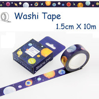 planet tape colorful planet washi tape planet masking tape planets label sticker Galaxy world fancy night tape kid planet party deco tape