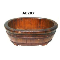 Forever Green Art Antique Rustic Wooden Oval Conta In er