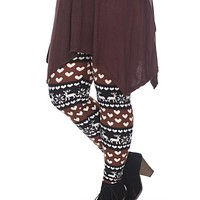 Plus Size Soft Winter Seasonal High Waist Stretch Full Leggings Bottoms