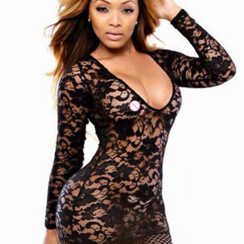 RA70082 Hot sale blue black white three colors 4 sexy dress to party  deep V neck sexy dress club wear new full mini lace dress