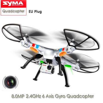 Syma X8G RC Drones with 8.0MP HD Camera 2.4G 4CH 6Axis RTF RC Quadcopter Helicopter 360 Degree Flip UFO Drone Dron Toys EU Plug