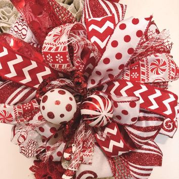 Christmas Decoration Bows | Bows for Holiday Decor | Lantern Bows | Wedding Bows for Pews | Bows for Rail Signs | Holiday Bows | Custom Bow