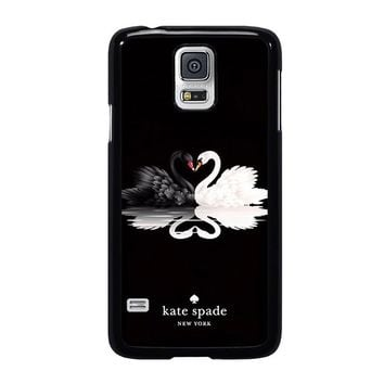 KATE SPADE BLACK WHITE SWAN Samsung Galaxy S5 Case Cover