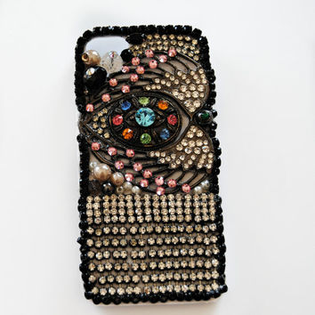 iPhone 5 Case, Rainbow, Crystal, Beads, Swarovski Crystal, Rhinestone, Kawaii, Lolita, Holder, Cover - MAGIC EYE
