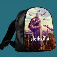 Sloth Zilla for Backpack / Custom Bag / School Bag / Children Bag / Custom School Bag *