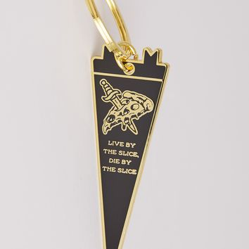 Live By the Slice Keychain