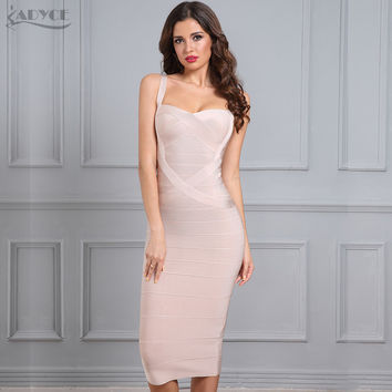 2017 New Woman Bandage Dress Bodycon Party Dress Hot Red Black Blue White Pink Yellow Sexy Celebrity Backless Dress Dropshipping