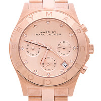 Marc By Marc Jacobs Blade Chrono Watch in Metallic Gold